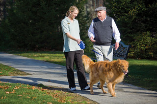 Dog therapy with clifford assisted living maine