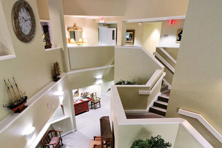 Foyer at assisted living in maine