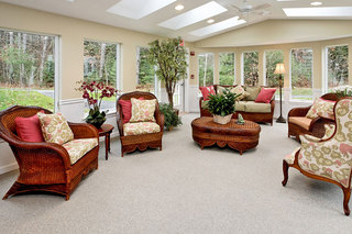 Scarborough maine memory care sunroom