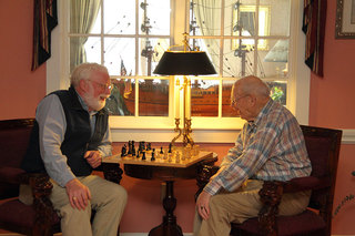 Playing chess senior living maine
