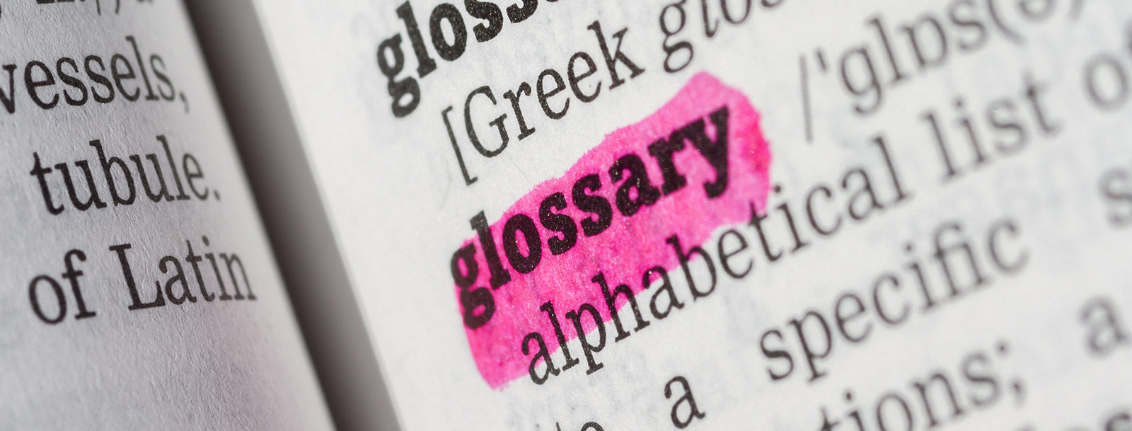 A glossary to help you understand the terminology at the senior living in Sterling