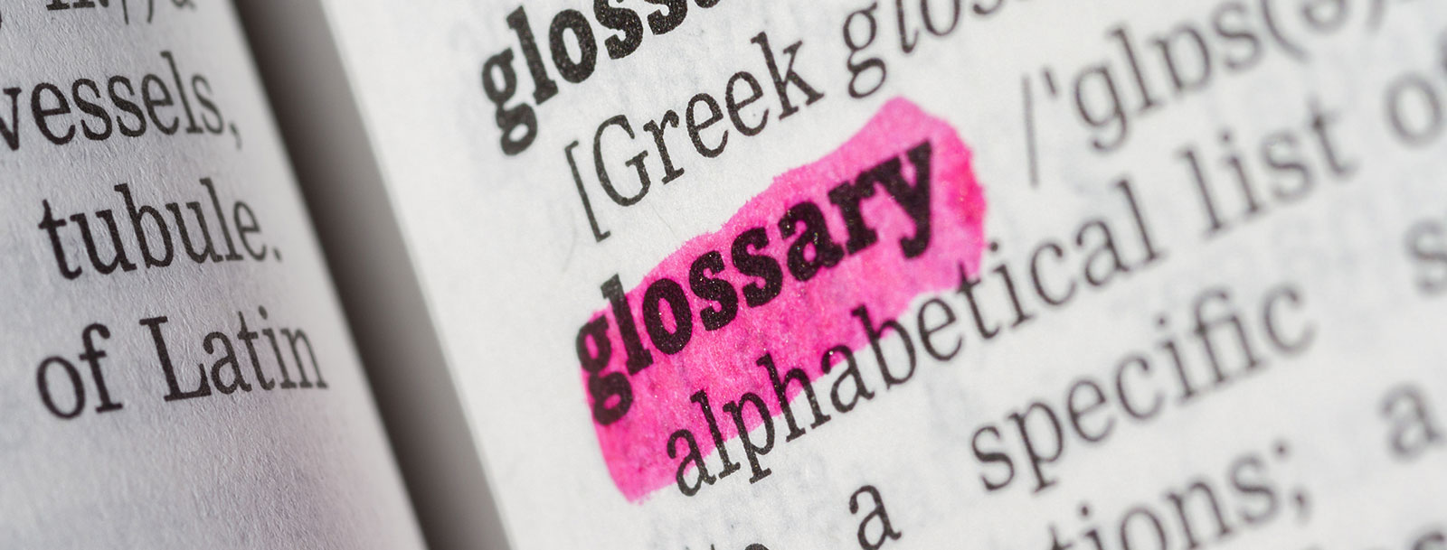 A glossary to help you understand the terminology at the senior living in Fort Scott