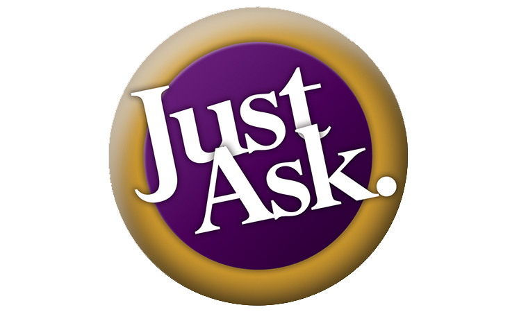 Just ask logo for the senior living in Parsons
