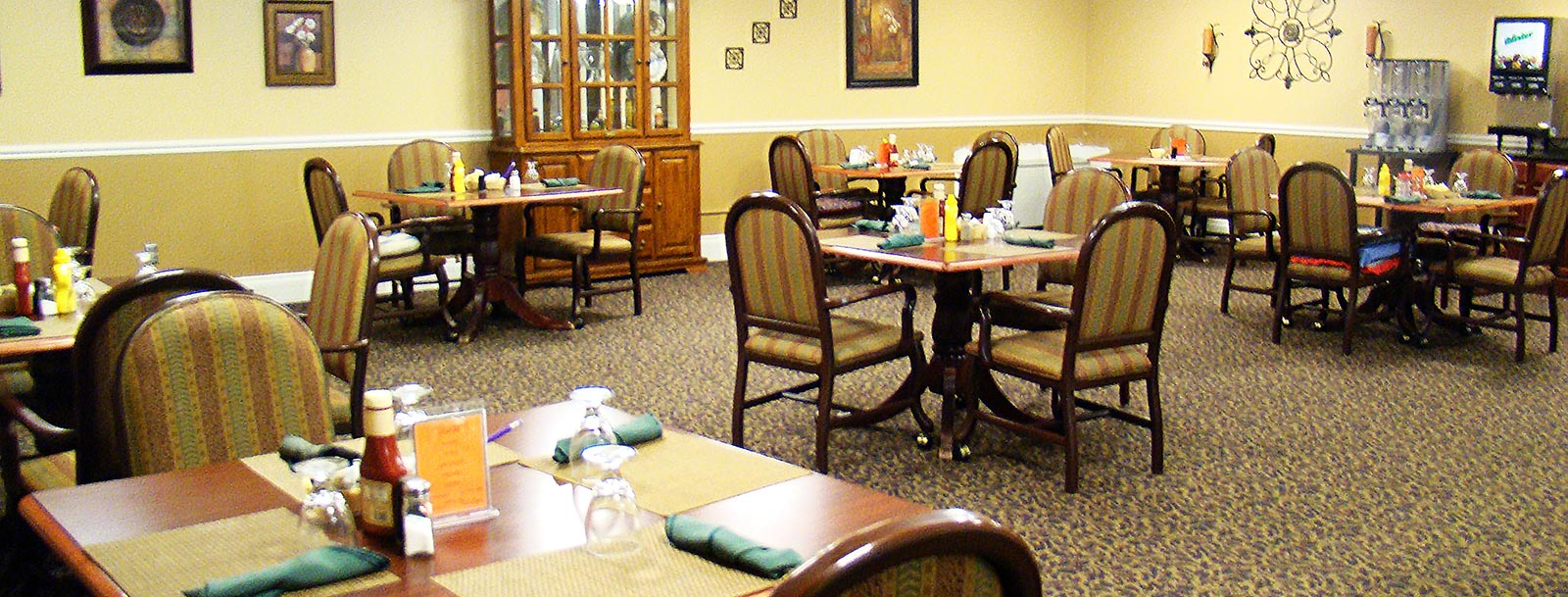 Professional chefs to prepare your meals at the senior living facility in Parsons