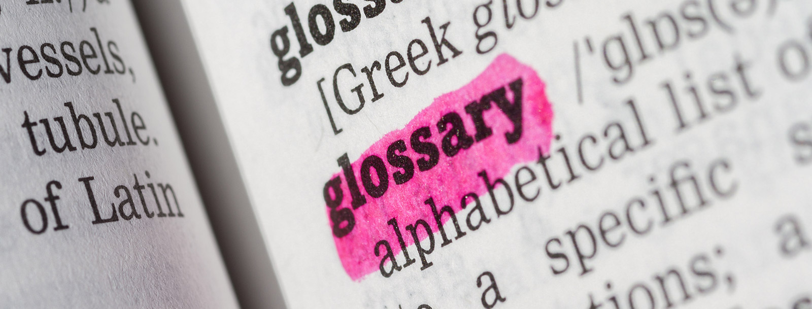 A glossary to help you understand the terminology at the senior living in Parsons