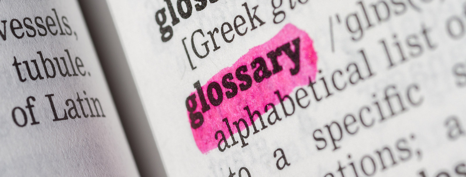 A glossary to help you understand the terminology at the senior living in Fulton