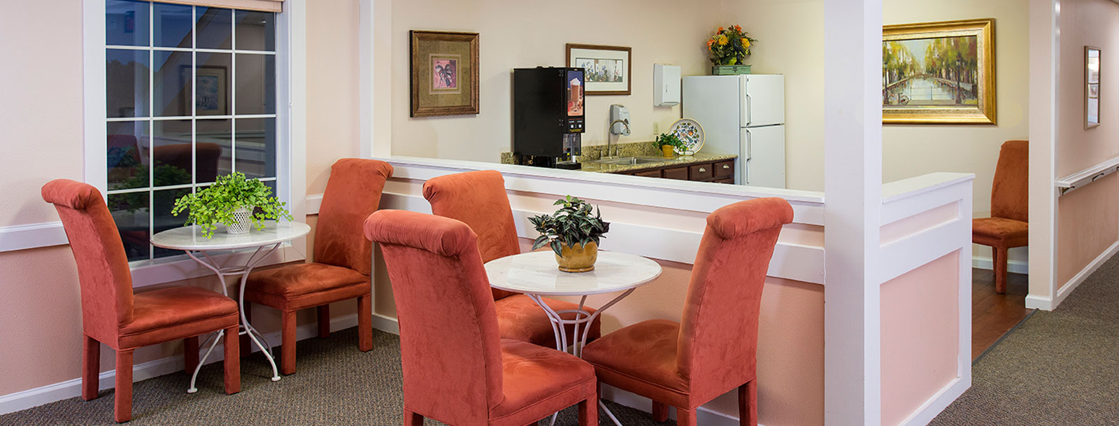 Coffee bar at the senior living in Fort Scott