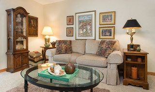 Senior living in Newton has an open, relaxing room