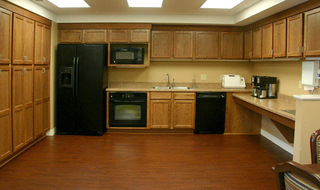 Luxury kitchen area at the senior living in Clay Center