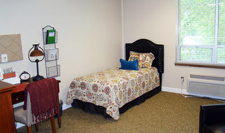 Bright bedrooms at the senior living Clay Center