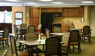 Dining area at the senior living in Clay Center