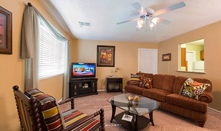 Spacious living room at the senior living community in Fort Scott