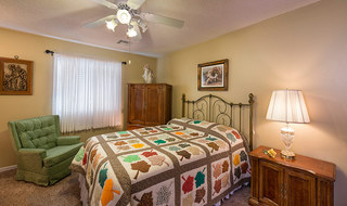 Spacious bedroom at the senior living in Fort Scott
