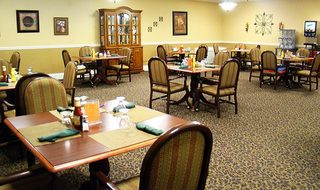 Dining area senior living parsons