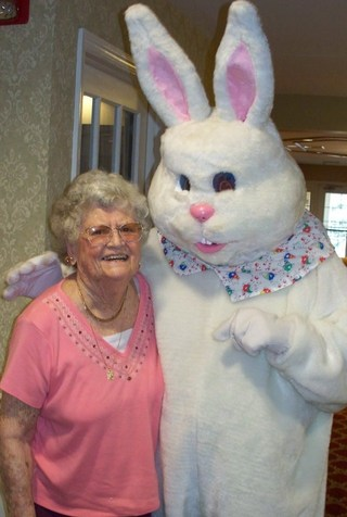 Dixie and Easter Bunny 2015