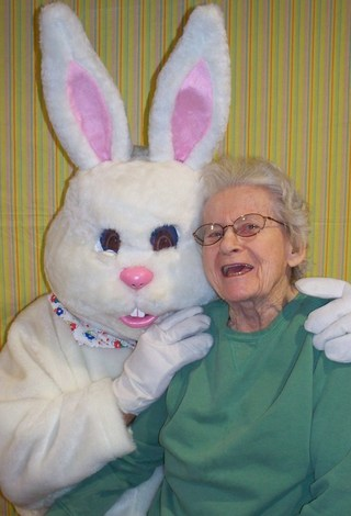 Anne and Easter Bunny 2015