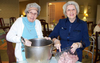 Ceil and Betty Easter 2015