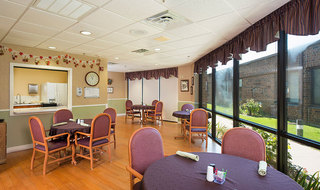 Dining room at the senior living in Salina