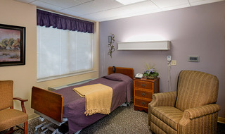 Path bedroom at the senior living in Salina