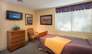 Salina senior living has spacious bedroom