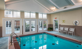Spacious pool area in Olathe senior living community