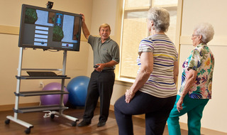 Virtual reality therapy at the senior living in Olathe