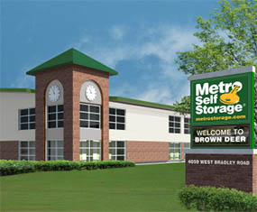 Construction of Metro Self Storage location in Brown Deer, WI.