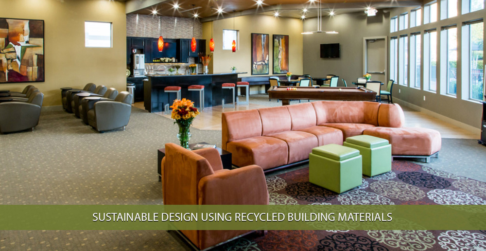 Sustainable design using recycled building materials