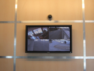 Office security camera monitor