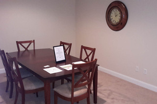Formal dining room at our dracut luxury apartments