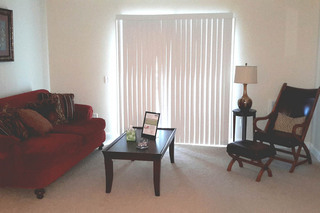 Model living room at our dracut apartments