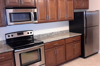 Stainless steel appliances at our apartments in dracut