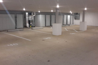 Underground parking garage at our dracut luxury apartments