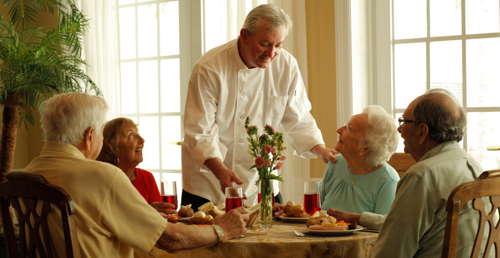Dining in woodstock senior living