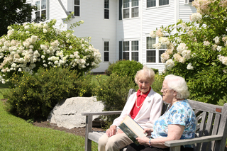 Reading in the garden seniors vermont