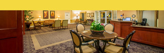 Spokane Washington senior living indoor seating lobby