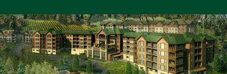 Senior living in Portland main building rendering exterior aerial