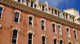 Before renovations at our historic apartment building in leadville