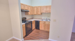 Fully equipped kitchens at our historic apartment building in leadville