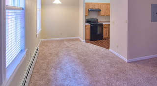Open floor plans at our historic apartment building in leadville