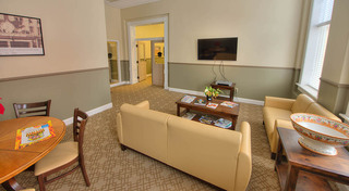 Resident lounge at our historic apartment building in leadville