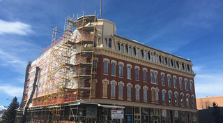 Scaffolding at our historic apartments in leadville