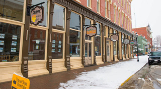 Shops at our historic apartment building in leadville