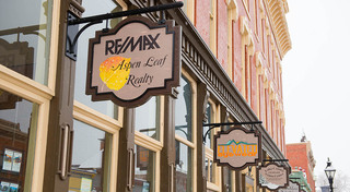 Shops on the ground floor at our historic apartment building in leadville