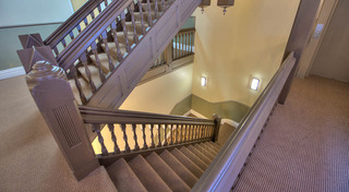 Wide stair cases at our historic apartment building in leadville