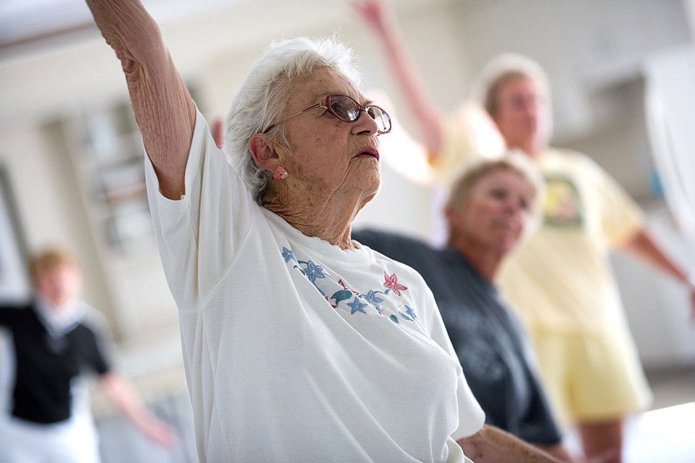 Getting your sweat on at windham terrace assisted living
