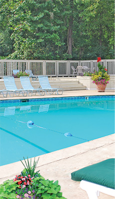 Kingswood apartments in Chapel Hill have great amenities.