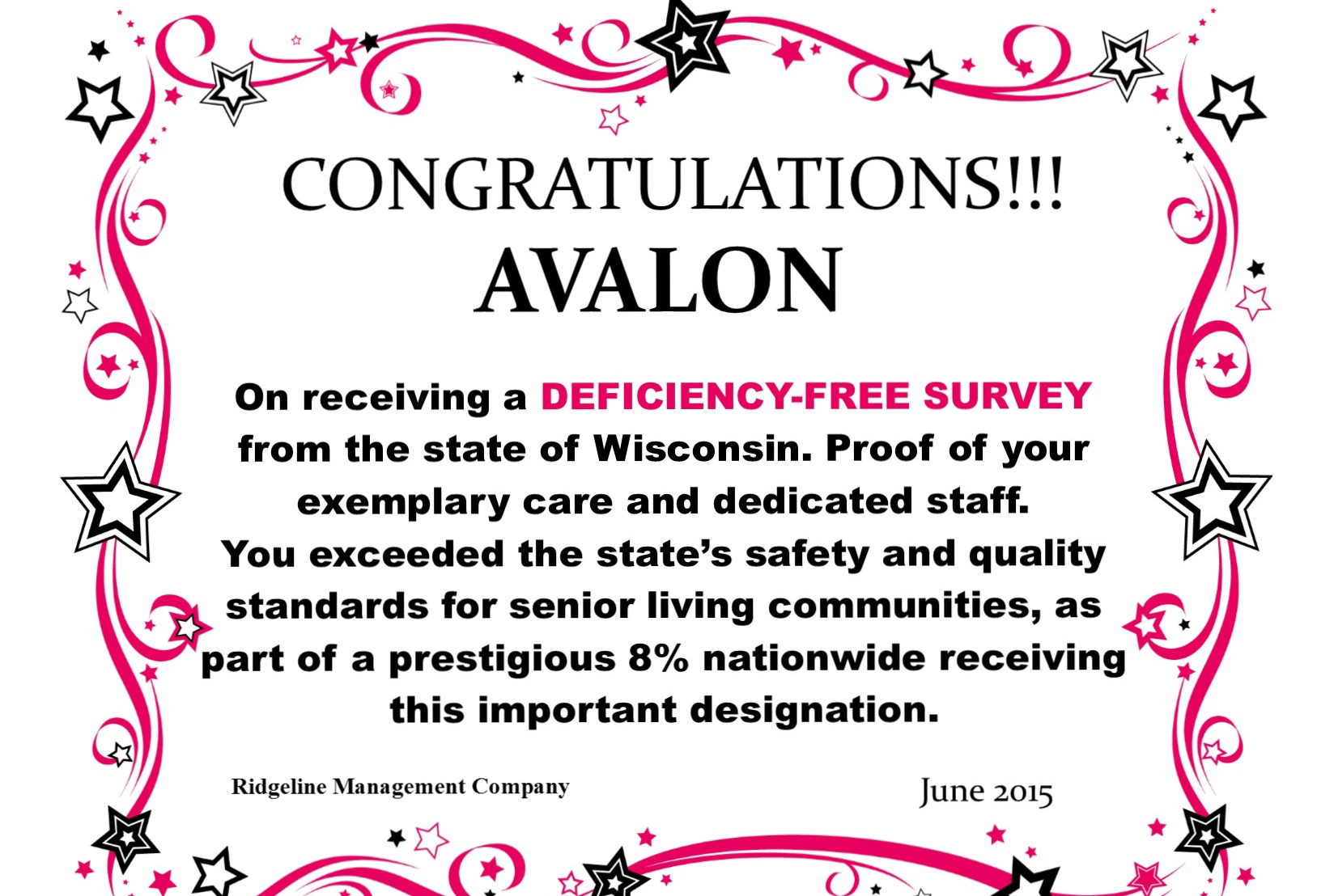 Congrats deficiency free banner website avalon (1)