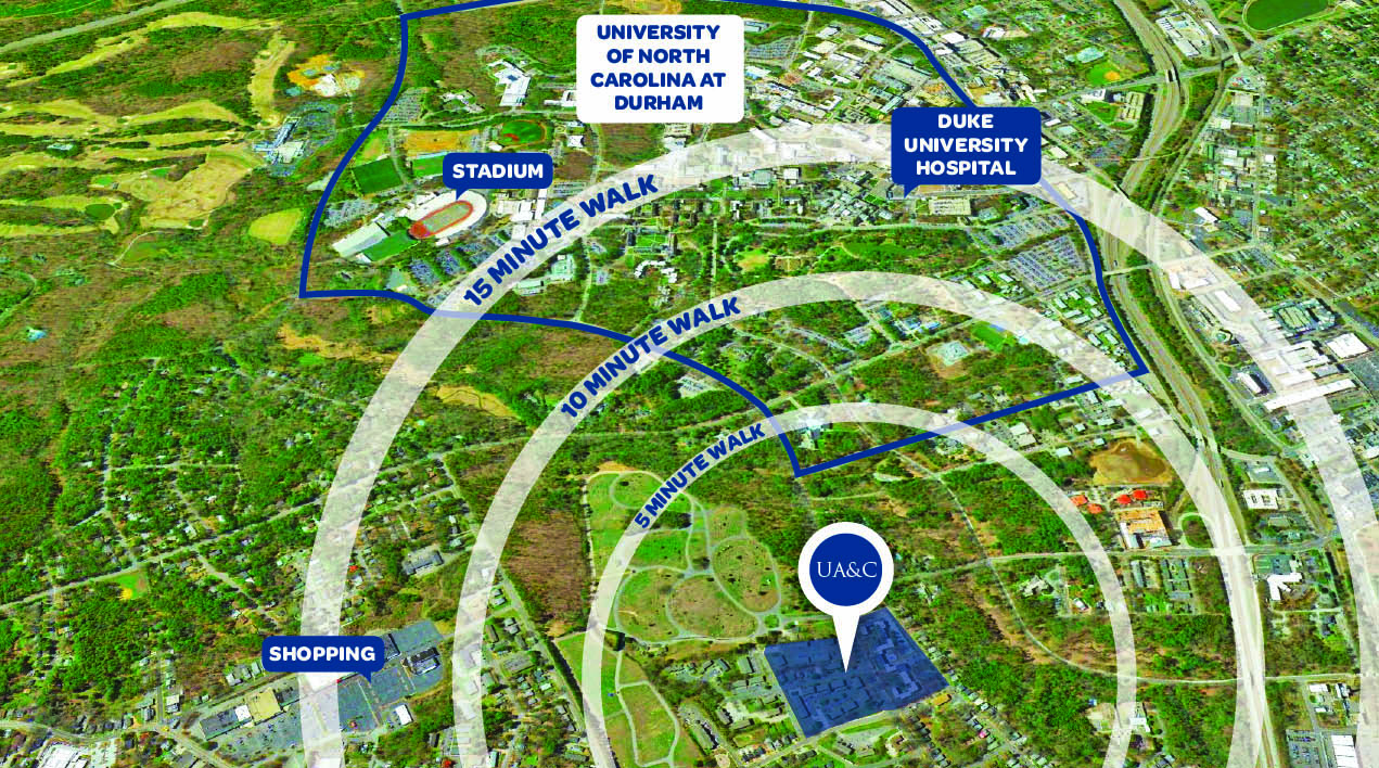 Learn more about the location at University Commons - Durham