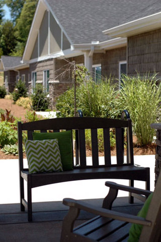 Comfortable porch seating our location in Charlotte, NC
